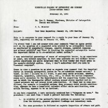 Image of 2004.275 - Kirksville College of Osteopathy and Surgery Inter-Office Memo