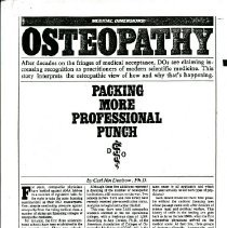 Image of 2008.58 - Osteopathy Packing More Professional Punch