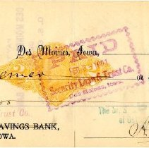 Image of Check Number 50 from The Dr. S.S. Still College and Infirmary of Osteopathy