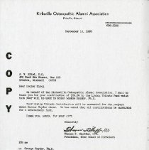 Image of 2004.275 - September 1976 Letter to A.W. Eitel from Thomas F. Sheffer