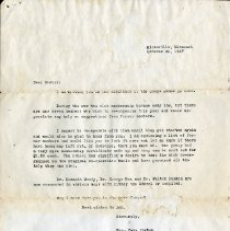 Image of October 1947 Letter to Doctor from Mrs. Carl Porter