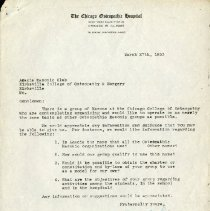 Image of March 1953 Letter to the Acacia Club from Bill L. Fineman