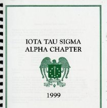 Image of 2017.01 - Iota Tau Sigma Alpha Chapter 1999 Booklet