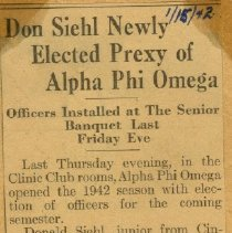 Image of 1997.42 - Don Siehl Newly Elected Prexy of Alpha Phi Omega