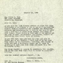 Image of 1985.1114 - October 1946 Letter to Wilbur V. Cole from Benjamin S. Jolly