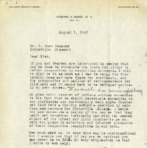 Image of 1985.1115 - August 1941 Letter to John Stedman Denslow from Hazzard A. Sweet