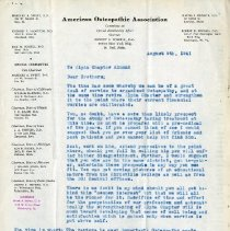 Image of 1985.1115 - August 1941 Letter to Theta Psi Alpha Chapter Alumni from Hazzard A. Sweet