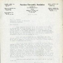 Image of 1985.1115 - April 1942 Letter to John Stedman Denslow from Ernest S. Powell