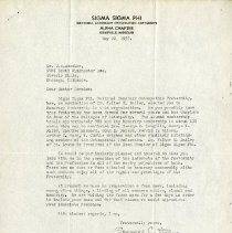 Image of 1985.1115 - May 1937 Letter to John Stedman Denslow from Spencer C. Hilton