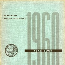 Image of 2008.58 - Academy of Applied Osteopathy Year Book of Selected Osteopathic Papers