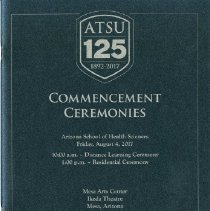 Image of 2017.51 - ASHS Commencement Ceremony Class of 2017 Commencement Program