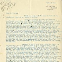Image of 2017.54 - Letter to Louisa Burns from R. W. Gehman