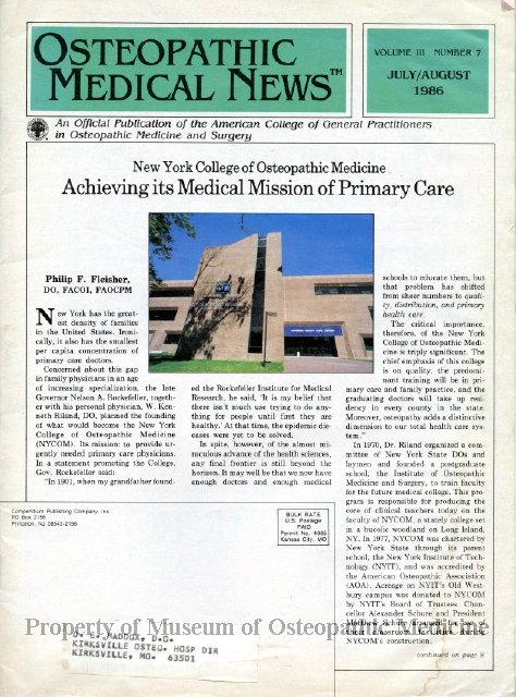 1997 50 - Osteopathic Medical News, Vol  3, No  7