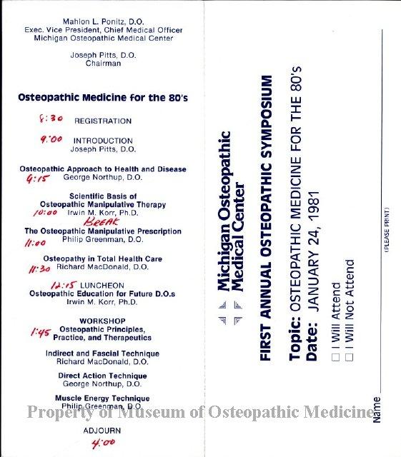 2004 244 - Michigan Osteopathic Medical Center Symposium