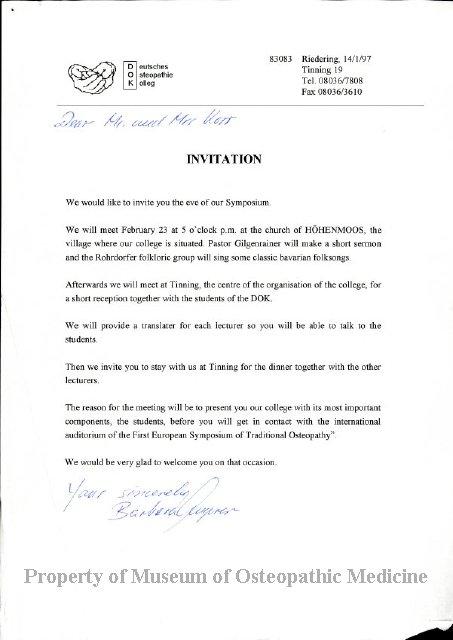 2004 244 - Correspondence between Korrs and Barbara Jenger