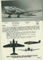 Image of Page from a Warplane Spotter's Manual, c. 1943