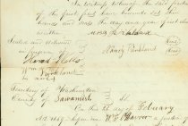 Image of signatures, Alvord deed, 1859