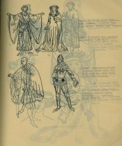 Image of page from the History of Costume, handmade book