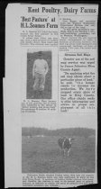Image of news clipping, Soames farm