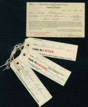 Image of Change of residence notice and baggage tags
