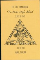 Image of High school commencement program at Tule Lake Internment Camp