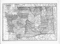 Image of Map of Washington  - Map