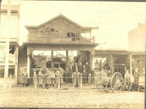 Image of Fred's Place Fire Scene - Print, Photographic