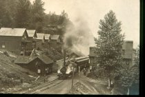 Image of Columbia and Puget Sound Passenger Train at Franklin, Washington - Print, Photographic