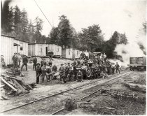 Image of Logging Camp Group - Print, Photographic