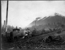 Image of Manley-Moore Lumber Company Train - Print, Photographic
