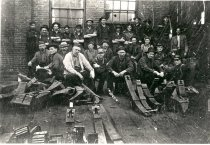 Image of Northern Pacific Railway Shop Employees - Print, Photographic