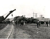 Image of Side Collision at Auburn Yard - Print, Photographic