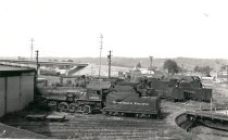 Image of Northern Pacific Railway Roundhouse and Turntable - Print, Photographic