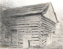 Image of Rachel Ann Faucett and Log Home - Print, Photographic