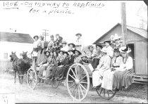 Image of Ladies in wagon en route to picnic - Print, Photographic