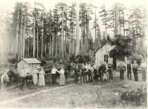 Image of Puget Sound Logging Camp - Print, Photographic