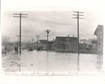 Image of Flooding in downtown Kent - Print, Photographic