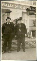 "Image of G.W. ""Fatty"" Hart & A.M. Barrett (Baird?) - Print, Photographic"