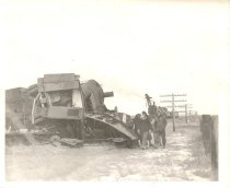 Image of NP Freight Wreck - Print, Photographic