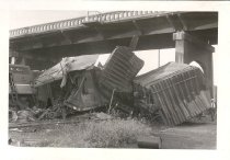 Image of Railroad wreck - Print, Photographic