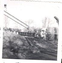 Image of Passenger train 408 derailment - Print, Photographic