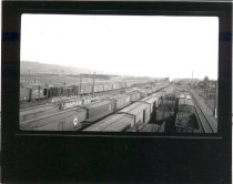 Image of Auburn Yard Looking North from Wooden Viaduct - Print, Photographic