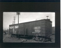 Image of Pacific Coast Railroad Boxcar - Print, Photographic