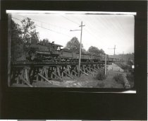 Image of PCRR Engine 15 with Train at North end of Maple Valley - Print, Photographic