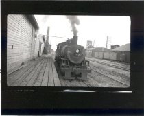 Image of Locomotive Furnishing Steam to Packing House - Print, Photographic