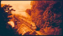 Image of Eastbound train at Green River bridge - Print, Photographic