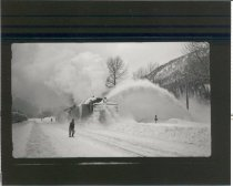 Image of Snowplow on Eastward Track - Print, Photographic