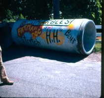 Image of Graffiti on Pipe - Transparency, Slide