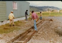 Image of Filipino and American Comm Hall - Construction - Print, Photographic