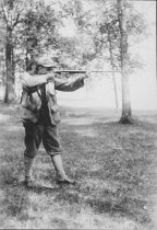 Image of Man with Hunting Rifle - Print, Photographic